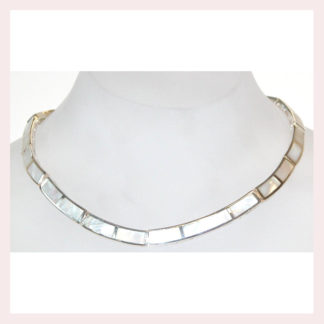 Sterling Silver White Mother of Pearl Necklace