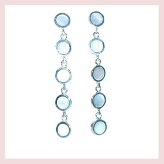 Sterling Silver & Mother of Pearl Dangle Earrings