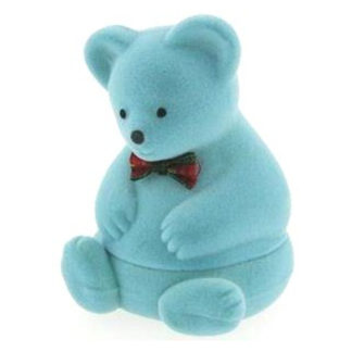 Blue Teddy Bear Ring Box