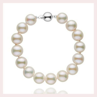 10-11mm Pearl Bracelt in Gold