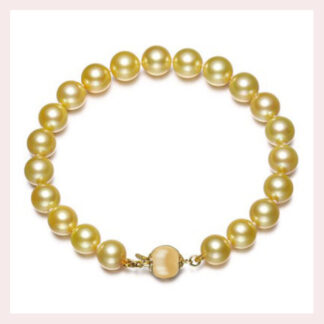 10011mm Golden Pearl Bracelet