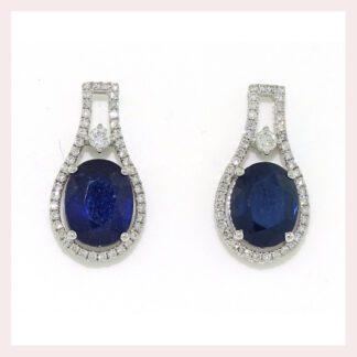 Vintage Sapphire & Diamond Earrings in Gold