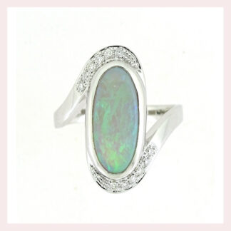 Opal & Diamond Ring in Gold