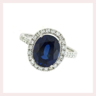 Sapphire & Diamond Ring in 14KT Gold