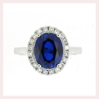 Sapphire & Diamond Ring in Gold