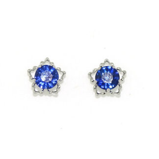Sapphire Star Earrings in 14KT Gold