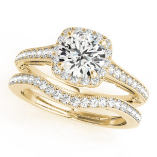 Wedding Set with Diamonds in 14KT Gold
