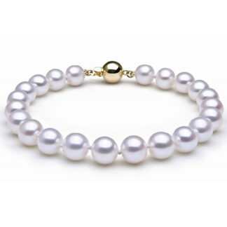 Pearl Bracelet with 18KT Yellow Gold Claps