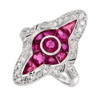 Ruby & Diamond Ring 14KT